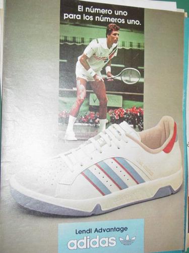 publicidad clipping recorte zapatillas adidas tenis advantag