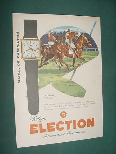 publicidad clipping relojes election mod meridiano yuste 1