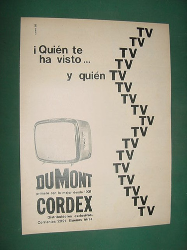 publicidad clipping televisores dumont cordex quien tv
