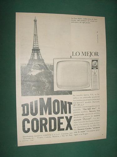 publicidad clipping televisores dumont cordex torre eiffel