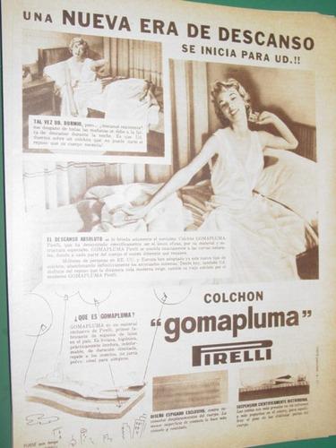 publicidad colchon gomapluma pirelli nueva era descanso