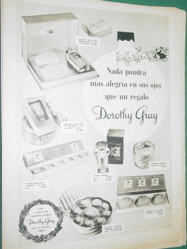 publicidad cosmeticos dorothy gray nada pondra mas alegria
