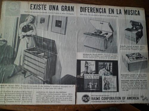 publicidad de radio pasadisco cinta antigua rca