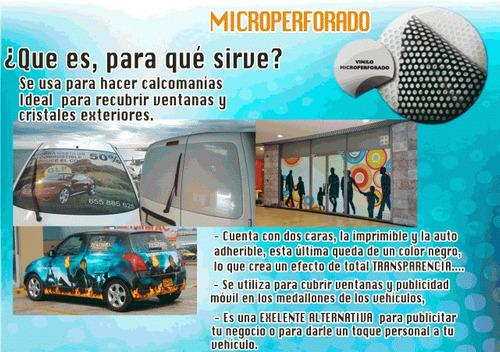 publicidad de ventanas,microperforado desde 8.99