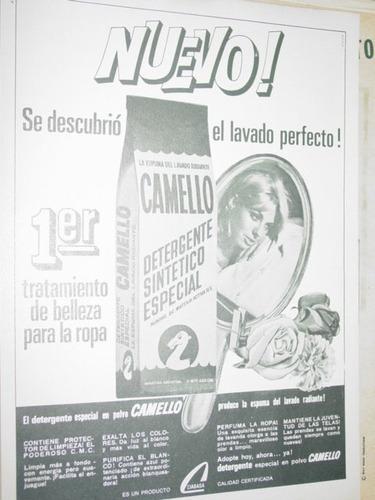 publicidad detergente especial sintetico camello paquete