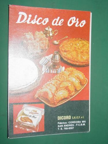 publicidad disco de oro tapas de empanadas dicoro san andres