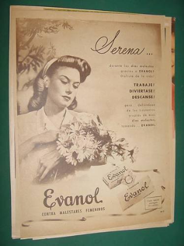 publicidad - evanol contra malestares femeninos serena