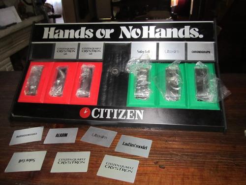 publicidad  exhividor citizen  antiguo excelente estado