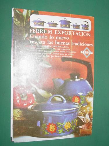 publicidad ferrum nueva linea exportacion vajilla cocina