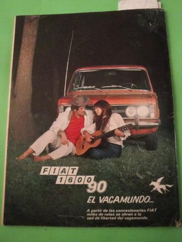 publicidad fiat 1600 90 año 1971