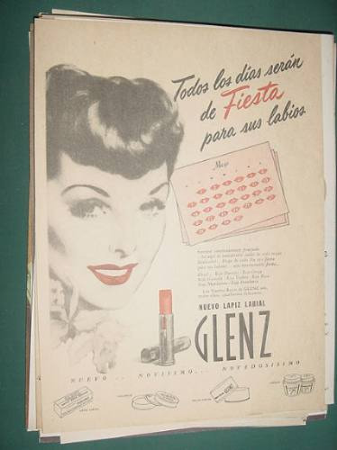 publicidad glenz lapiz labial nuevo fiesta para sus labios