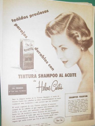 publicidad helene curtis cosmeticos tintura shampoo aceite