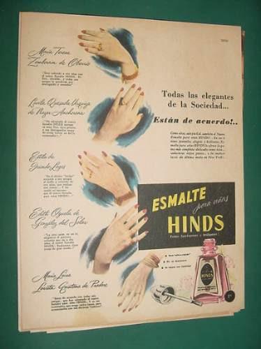 publicidad - hinds esmalte para uñas fascinantes brillantes