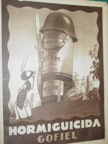 publicidad hormiguicida gofiel insecticidas soldado hormiga