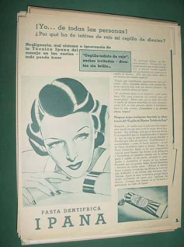 publicidad ipana pasta dentifrica masaje en las encias