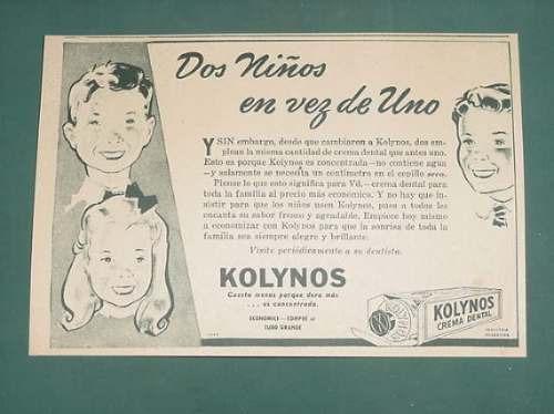 publicidad- kolynos crema dental economica tubo grande