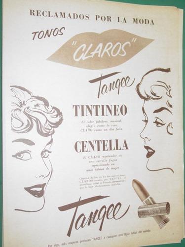 publicidad lapiz de labios labial tangee tintineo centella