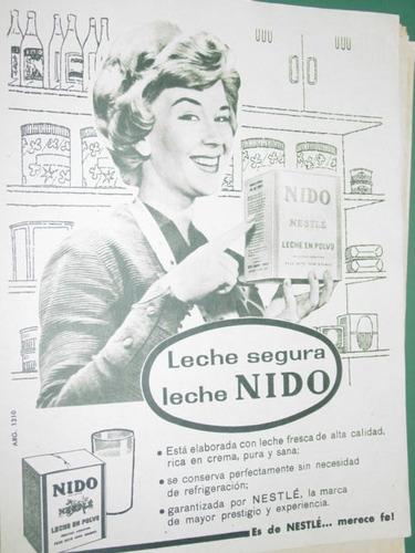 publicidad leche lecheria leche segura nido lata
