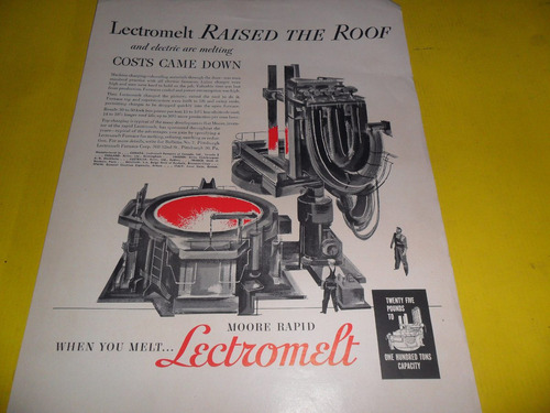 publicidad lectromelt raised the roof horno hornos siderurgi