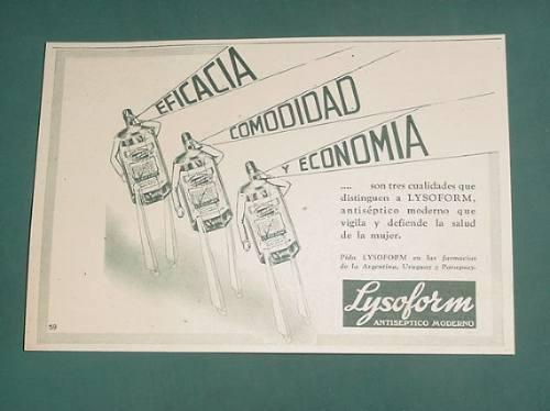 publicidad- lysoform antiseptico moderno eficaz comodo