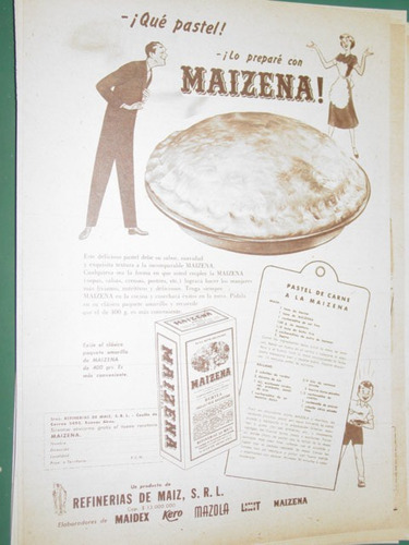 publicidad maizena recetas pastel de carne a la maizena