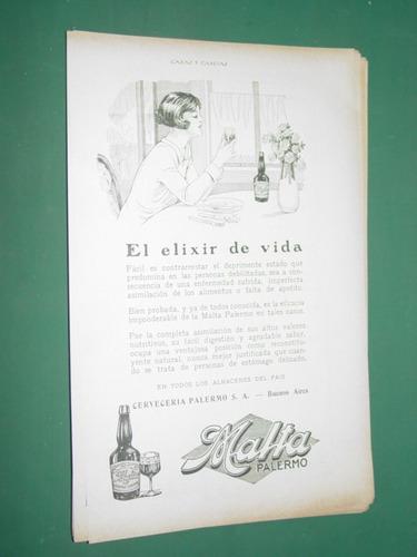 publicidad malta palermo elixir de vida cerveceria palermo