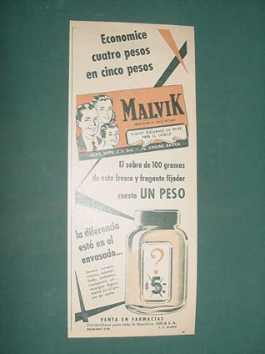 publicidad - malvik fijador para el cabello fresco