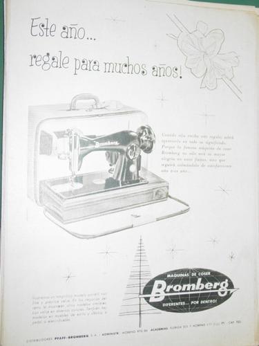 publicidad maquinas de coser bromberg argentina modelo 2