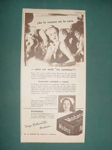 publicidad - modess johnson & johnson protege economico