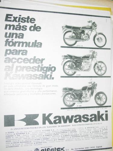 publicidad motocicletas kawasaki existe mas de una formula