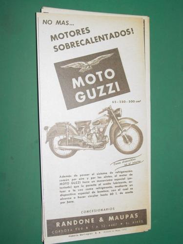 publicidad motocicletas moto guzzi motores sobrecalentados