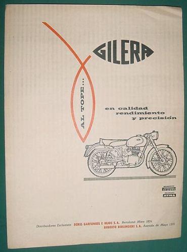 publicidad motociclismo motocicleta gilera rendimiento calid