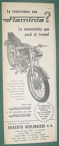 publicidad motos motocicletas flaminia roberto berlingieri