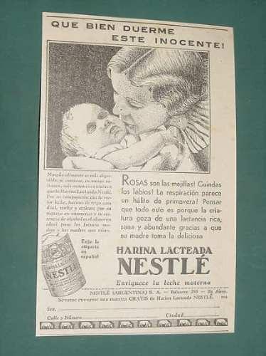 publicidad - nestle harina lacteada trigo candeal malta