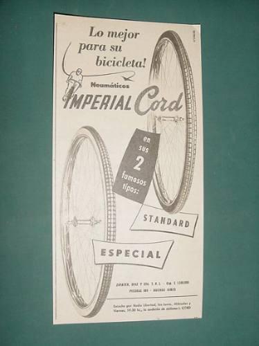 publicidad - neumaticos imperial cord standard especial