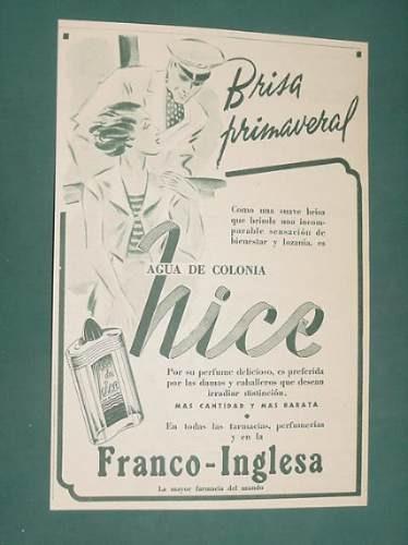 publicidad - nice agua de colonia franco-inglesa crisa