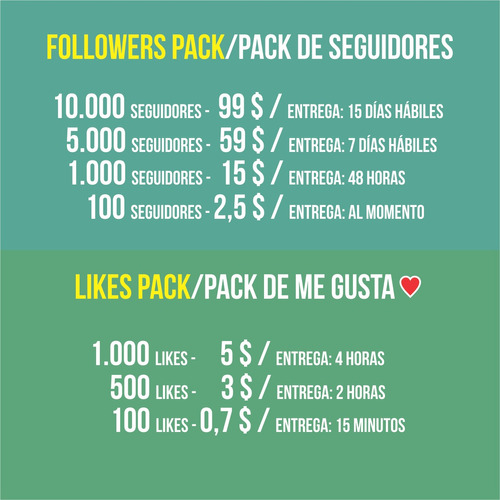 publicidad online redes sociales followers pack marketing