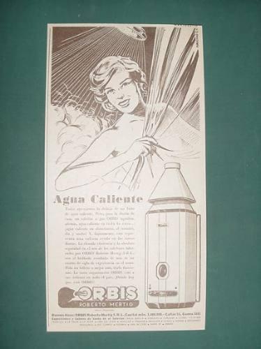 publicidad- orbis calefon agua caliente donde hay gas