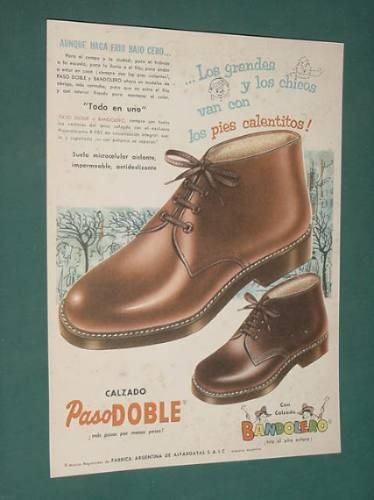 publicidad - pasodoble calzado pies calentitos bandolero