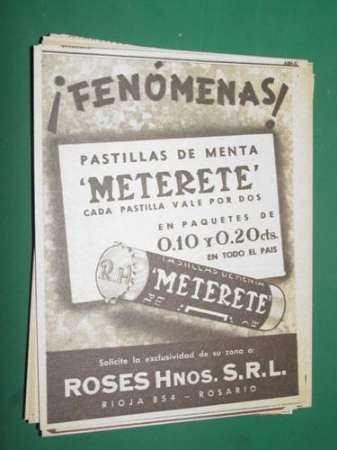 publicidad pastillas de menta meterete roses hnos. fenomenas