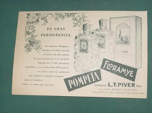 publicidad- perfumes l:t:piver pompeia floramyepersistente