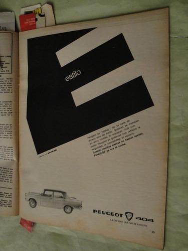 publicidad peugeot 404 año 1968 x