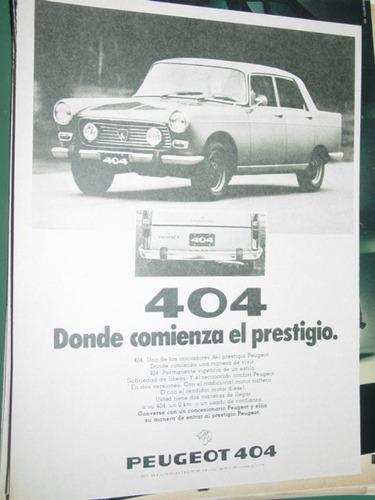 publicidad peugeot 404 automoviles donde comienza prestigio