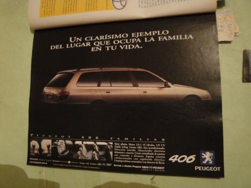 publicidad peugeot 406 familiar año 1999