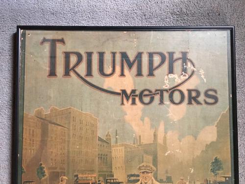 publicidad poster original antigua triumph moto marco