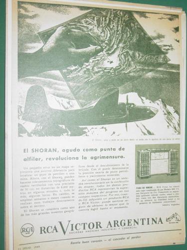 publicidad radio combinados rca victor argentina shoran