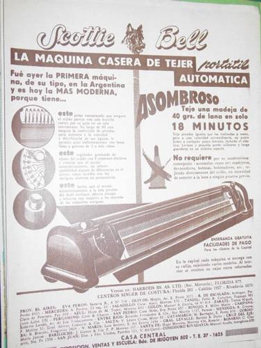 publicidad recorte maquina tejer knitting scottie bell mod1
