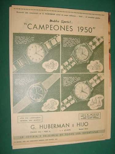 publicidad - relojes modelos sports 1950 291- 777 -10 - 88