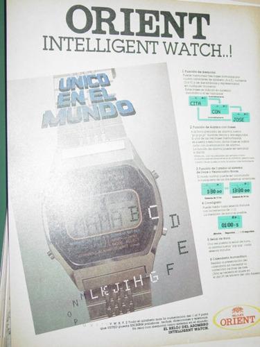 publicidad relojes orient intelligent watch reloj del asombr