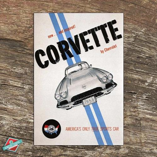 publicidad retro vintage - corvette